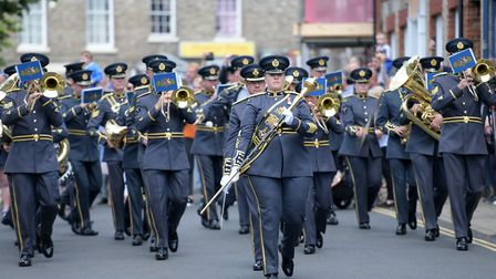 Crowds lined the streets to watch RAF Honington be officially awarded the Freedom of Thetford Pict