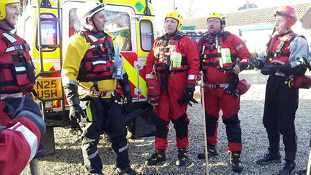 Norfolk Lowland Search and Rescue team in Surrey