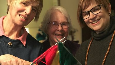 Margaret Whittaker, Gwyneth Archibald and Jane Chapman from the Loddon and district WI who have been