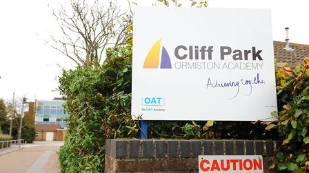 Cliff Park Ormiston Academy where students who took part in ski trips to Italy have been told to sta
