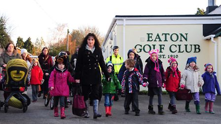 Parents and children who use Eaton Golf Club to access local schools have been told they must stop u