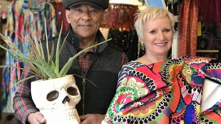 Caryn Louis, owner of The Other Curator on Norwich market is selling Tony Hall's cacti in return for