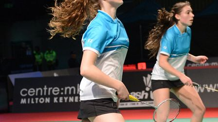 Devon Minnis (left) reached the quarter-finals of the English National Badminton Championships along