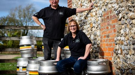 David and Rachel Holliday of Norfolk Brewhouse have had to pay thousands of pounds in beer duties wh