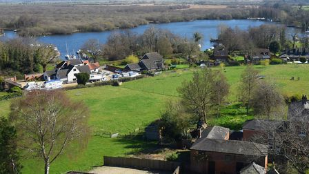 Views across the countryside and Malthouse Broad from Ranworth church tower. Picture: DENISE BRADLEY