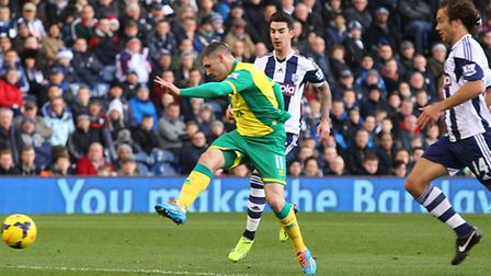 Norwich City striker Gary Hooper was denied twice at West Ham. Picture by Paul Chesterton/Focus Imag