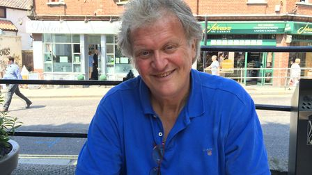 Tim Martin, chairman and founder of Wetherspoon's, at The Bell Hotel in Norwich during his pro-Brexi