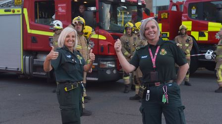 Clap for carers 23/04/2020 Norfolk and Norwich Hopsital. Thank you NHS clap amid COVID19 crisis. Pic