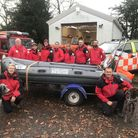 Just a fraction of the fifty or so volunteers who make up Norfolk Lowland Search and Rescue which su