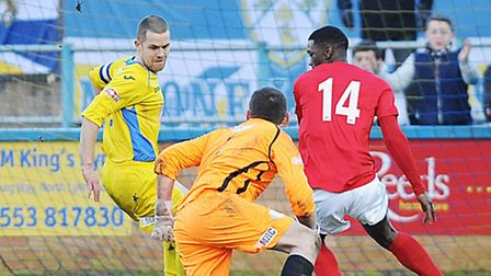 Chorley sub Darren Stephenson scored the opening goal, despite the best attempts of Alex Street and