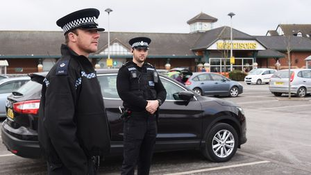 Police enforcing the lockdown in Cromer. The police have released new guidelines about what is consi