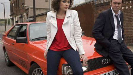 The famous red Audi Quattro used in BBC TV drama Ashes to Ashes, starring Philip Glennister as Det C