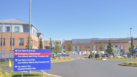 Coronavirus cases at the Norfolk and Norwich University Hospital have fallen. Pictures: BRITTANY WOO