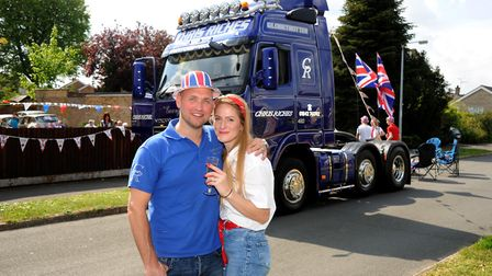 Haulage company owner Chris Riches toured his decorated lorry around Thetford in celebration of VE D