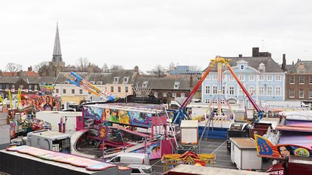 A view of the The Mart in King's Lynn, taken from the Maze Media offices. Picture: Ian Burt