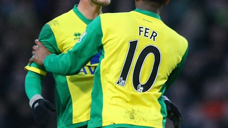 Norwich City's Leroy Fer has no doubts Ricky van Wolfswinkel will come good in the goal stakes. Pict