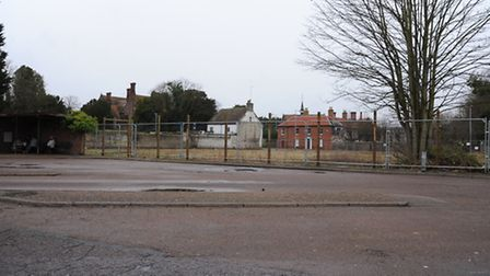 Thetford bus station and the old anchor pub site.