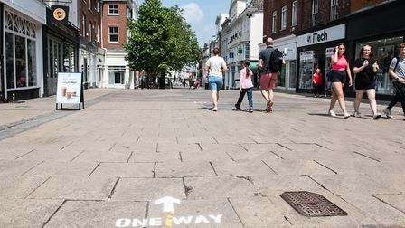 Social distancing guidelines have been placed around Norwich city centre ahead of shops reopening on