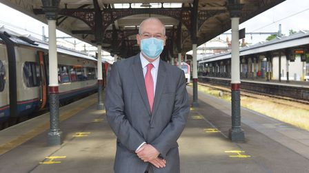 Norwich Station preparing for increase in passengers as lock down is lifted. Jonathan Denby Head o