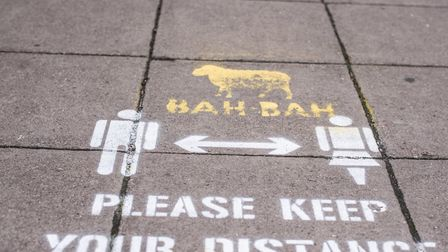 Social distancing guidelines were placed around Norwich city centre ahead of shops reopening on June