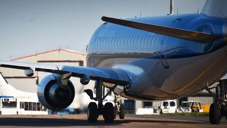 A KLM plane at Norwich Airport. Picture: ANTONY KELLY