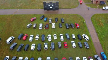 Pop Up Pictures' drive-in cinema at the Norfolk Showground on Thursday, July 9. Picture: Mathew Wood