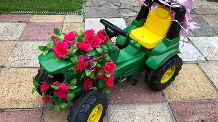 Mark and Meryl Raines, from Harleston, kept the tradition of the Pink Ladies Tractor Road Run alive