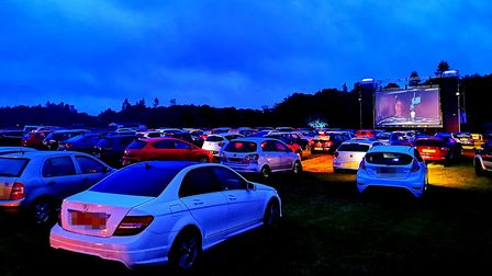 Pop Up Pictures' drive-in cinema at the Norfolk Showground is back by popular demand. Picture: BRITT