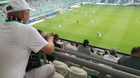 Fans at Legia Warsaw's Polish Army Stadium offer an insight into how a socially distanced stadium lo