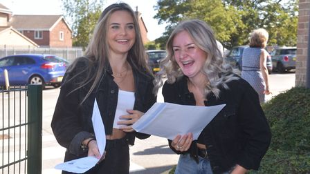 Lynn Grove Academy Gorleston, Students get their GCSE results. Picture: Brittany Woodman