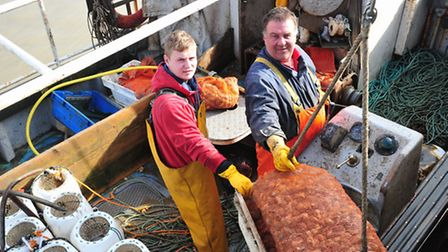 Fisherman Paul Lines and his son Charlie would like to be able to fish from Lowestoft, but are unabl