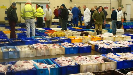 The Lowestoft fish market on Wednesday. Picture by Scarlett Mummery.