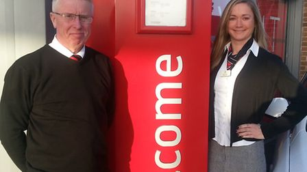 Sales consultant David Clarke and sales controller Marie Clarke who helped Vauxhall retailer Thurlow