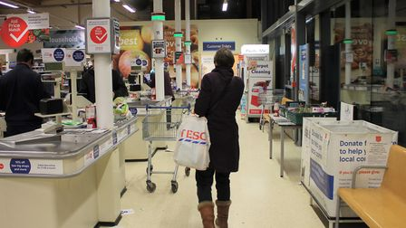 Tesco in north Norfolk will be on of many reinstating the ration on essential items. Photo: KAREN BE