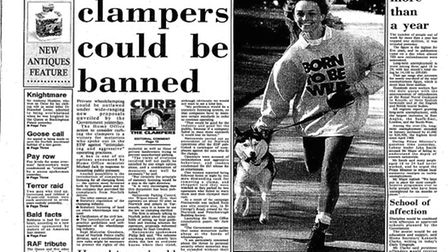 Archive front page: EDP 24 Feb 1993. Photo: Library