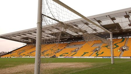 The new South Stand at Norwich City's Carrow Road ground nears completetion in February 2004. Photo: