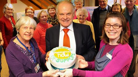 The Norfolk and Norwich Meningitis Community Help Group founder, Waltraud Jarrold, front left, with