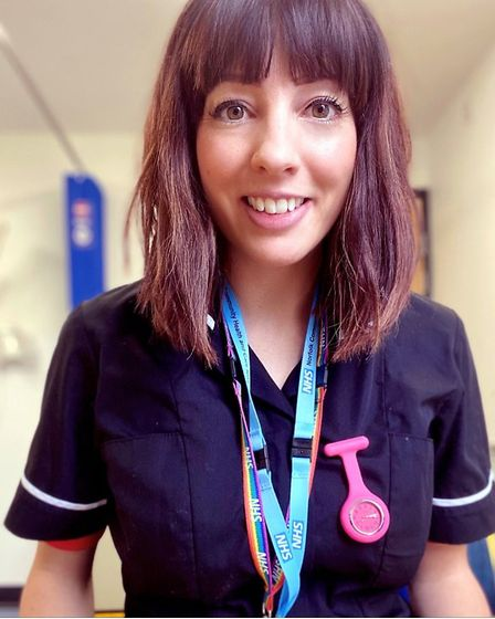 Jessica Brunet. Nominated for a Stars of Norfolk and Waveney Award 2020 NHS Person of the Year. Pict