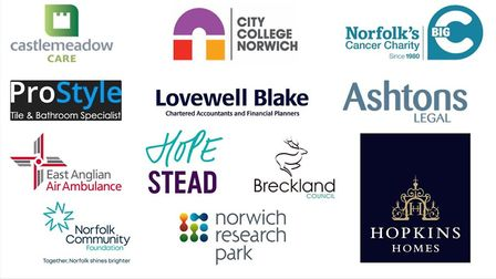 Logos of the Stars of Norfolk and Waveney 2020 sponsors. Picture: Archant Library