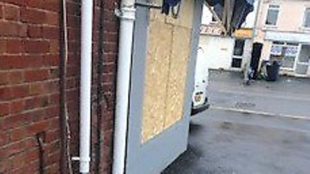 Graham Fiddy, 62, found damage by animal rights protesters at his butchers shop, Fiddy's Butchers, o
