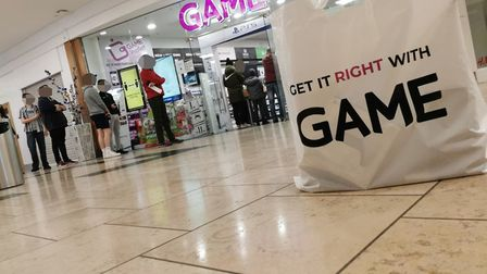 Queues outside Game in Chantry Place, Norwich, for the new PlayStation 5. Picture: SUBMITTED