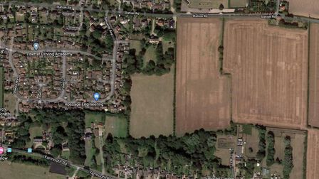 A homeowner is bidding for 33 houses behind Beechcroft in Station Road, Ormesby Picture: Google Maps