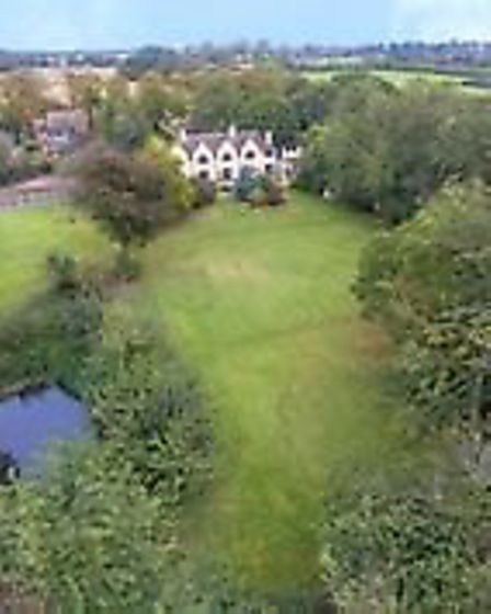 Part of a large garden in Ormesby St Margaret is up for sale with a price tag of £1,200,000. The lan