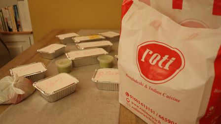 The meal from Roti in Norwich came well packaged. Picture: Stuart Anderson