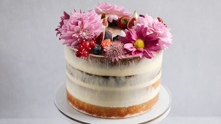 Raspberry bloom cake. Pic: Two Magpies Bakery