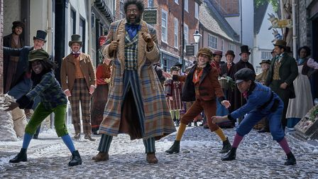 Forest Whitaker as Jeronicus Jangle during filming of Netflix's Jingle Jangle: A Christmas Journey i