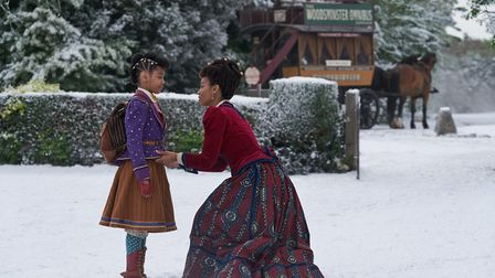 Madalen Mills as Journey Jangle and Anika Noni Rose as Jessica Jangle at Nether Winchendon in Buckin