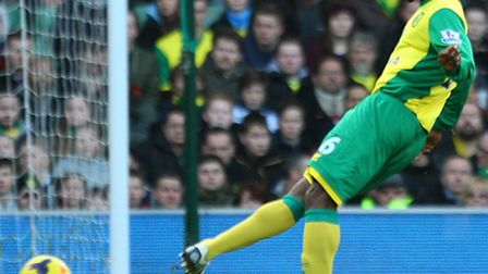 Norwich City's loan recruit Joseph Yobo was pressed into a full debut against Manchester City. Pictu