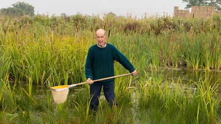 Richard Waddingham working on a pond Picture: ARCHANT