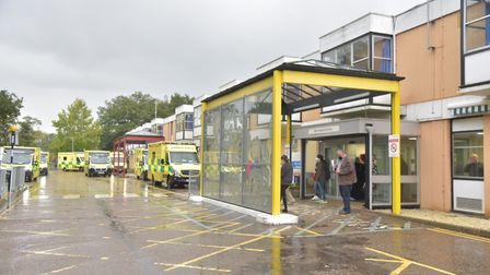 Latest NHS figures show there were 40 people with Covid-19 occupying beds at Queen Elizabeth Hospita